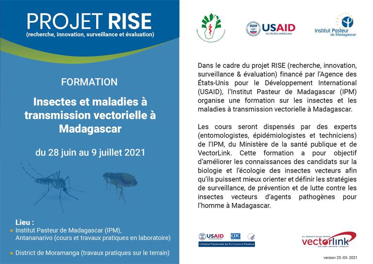 Formation sur Insectes et maladies à transmission vectorielle à Madagascar