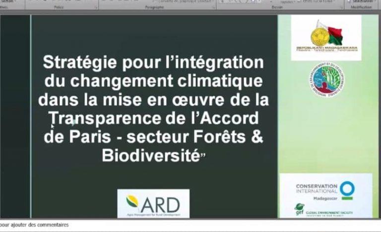 ATELIER DE VALIDATION DE LA STRATÉGIE NATIONALE DU CHANGEMENT CLIMATIQUE DU SECTEUR FORET / BIODIVERSITÉ