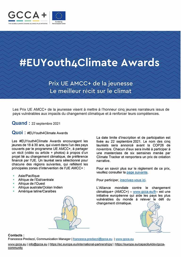 UE AMCC+ Youth Awards – Communiqué de presse – FR